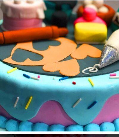 DESING GUM PASTE CAKE 2 LB