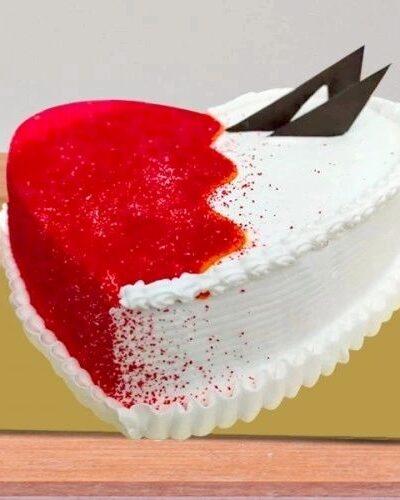 HEART SHAPE PINEAPPLE CAKE WITH RED VELVET CRUSH 2 LB