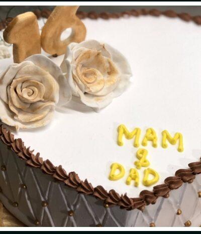 LOVE SHAPE FRESH CREAM CAKE 1 LB