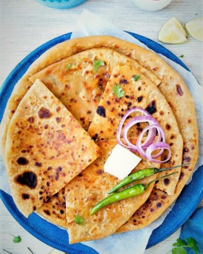 Onion Chilli Cheese Kulcha